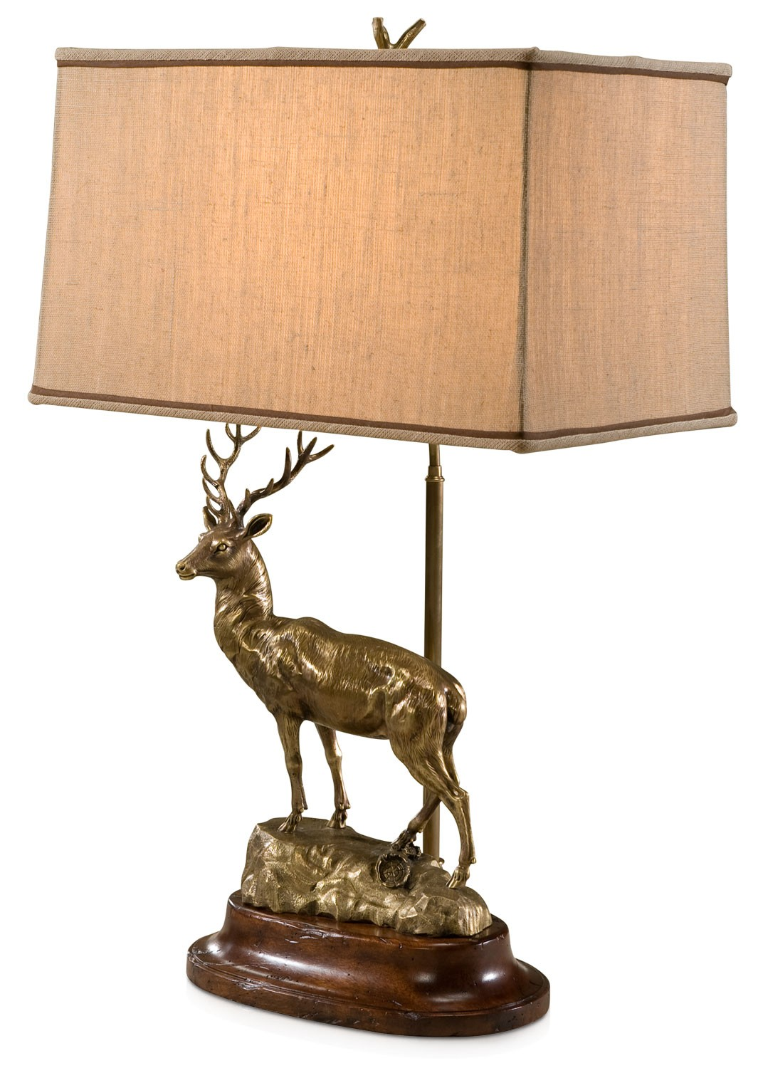 Brass model of a stag table lamp