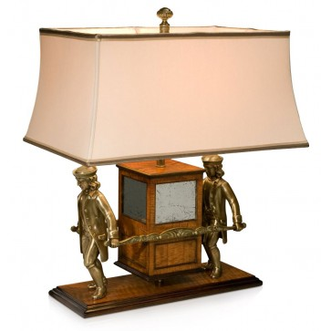 Brass model of an 18th century sedan chair as a table lamp