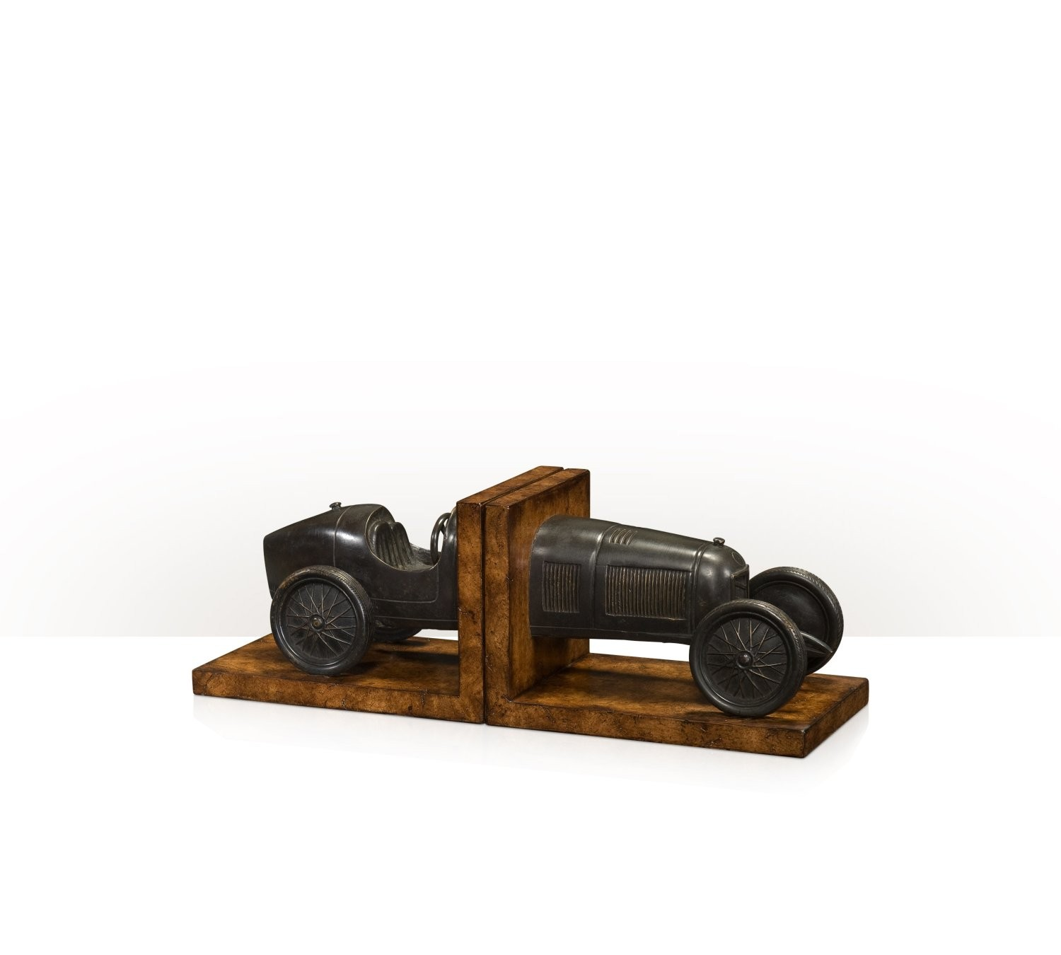 Brass model of car as bookends
