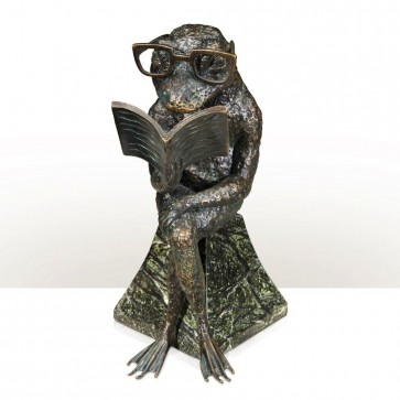 Brass model of frog