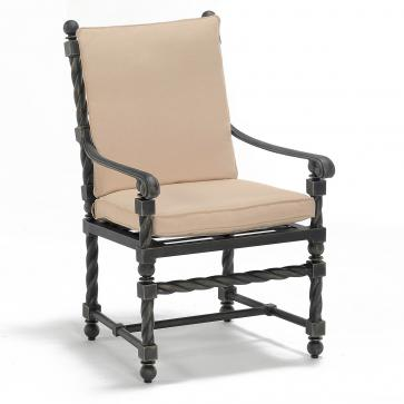 Bretain metal outdoor dining armchair