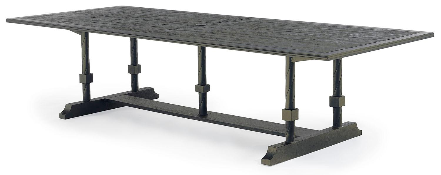 Bretain metal outdoor dining table