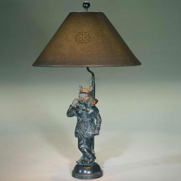 Bronze cat table lamp
