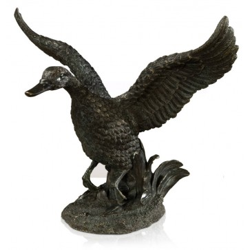 Bronze flapping duck