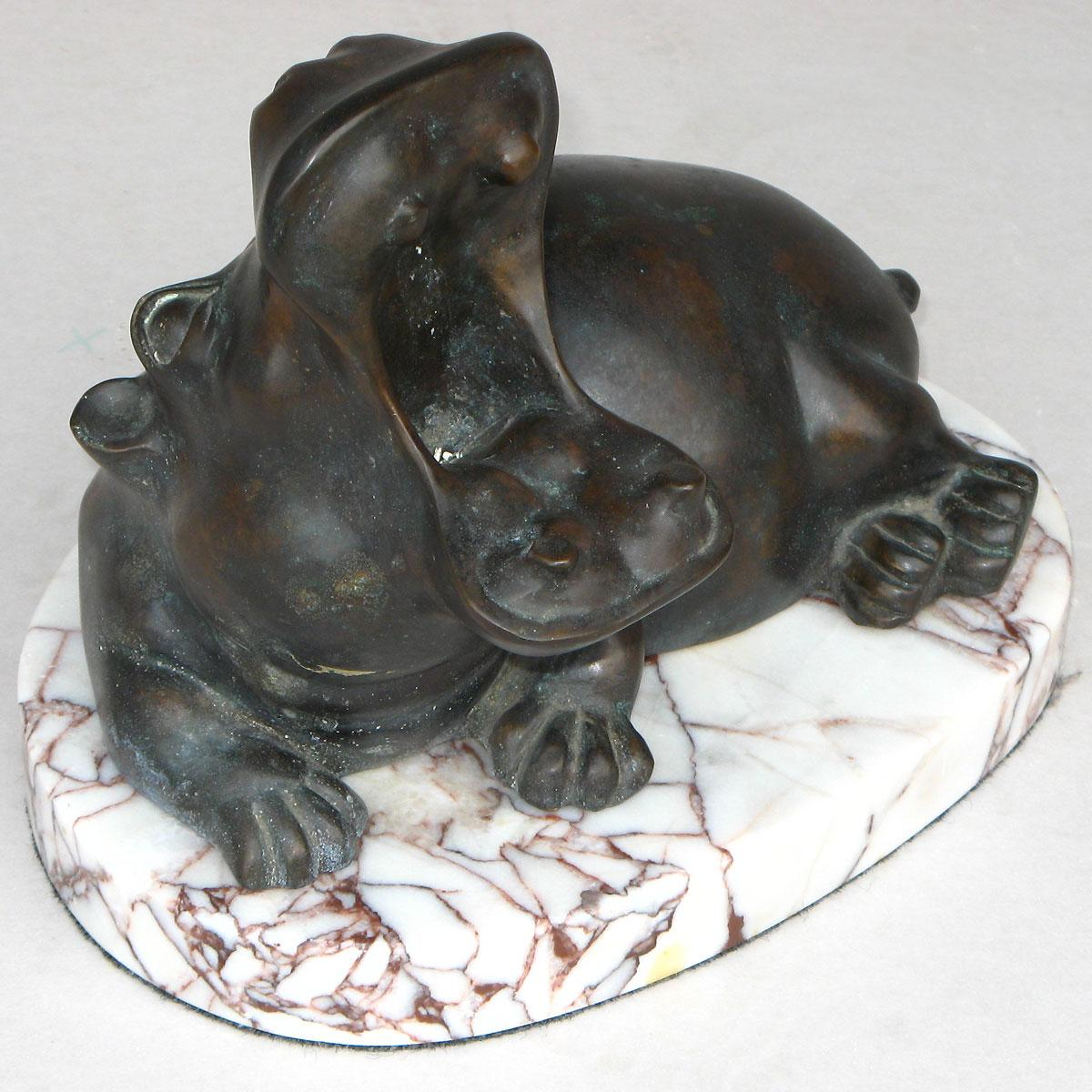 Bronze Hippo Table Top Accessories From Brights Of Nettlebed