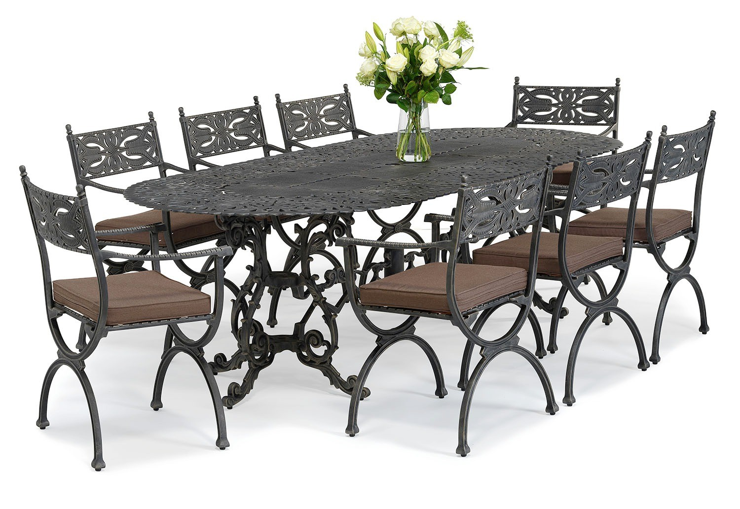 Brownian metal outdoor dining set