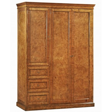 Burr oak wardrobe - bespoke sizes available