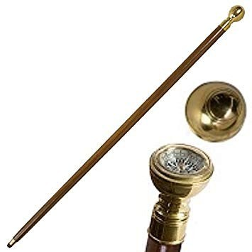Captain's walking stick - compass