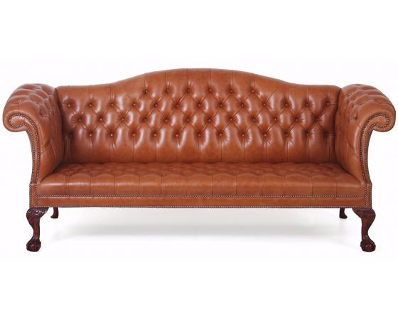 Chatsworth Leather - Buttoned seat