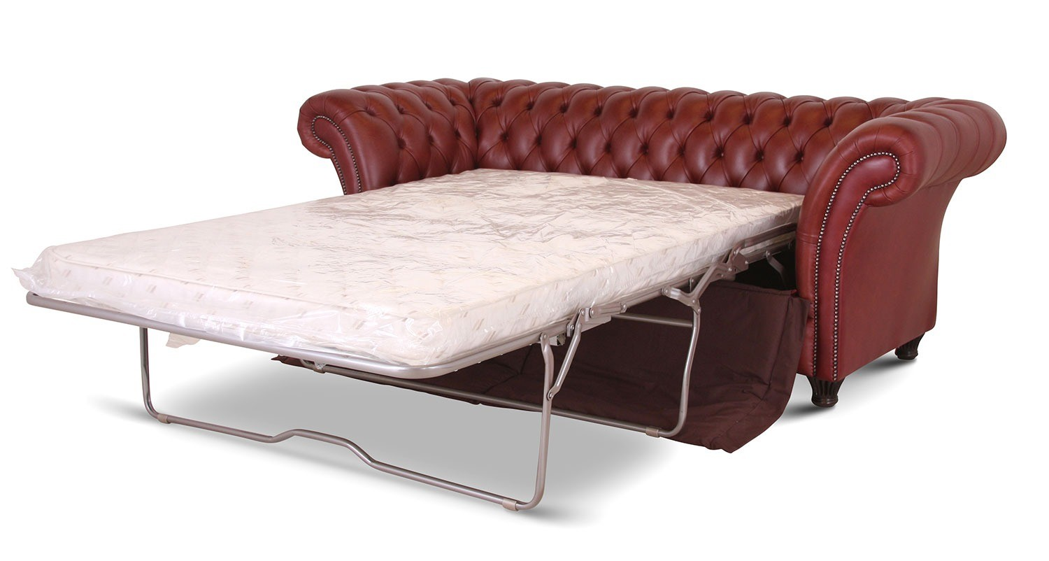 Chelsea 3 seat Leather Chesterfield sofa bed