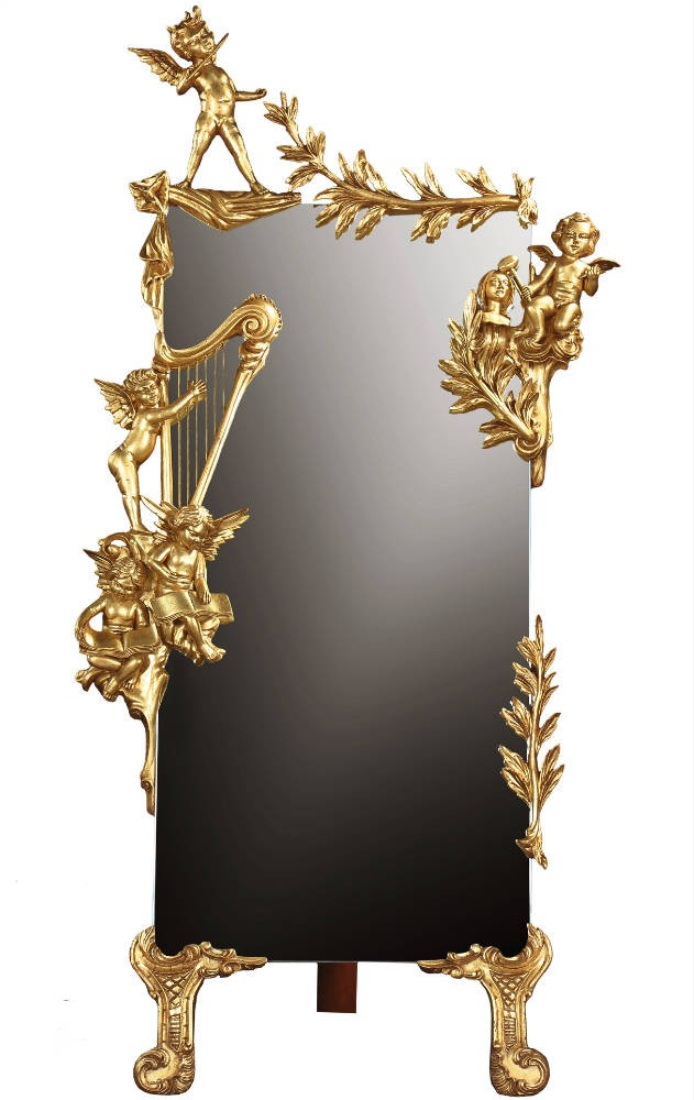 Cherub cheval mirror - 60in.