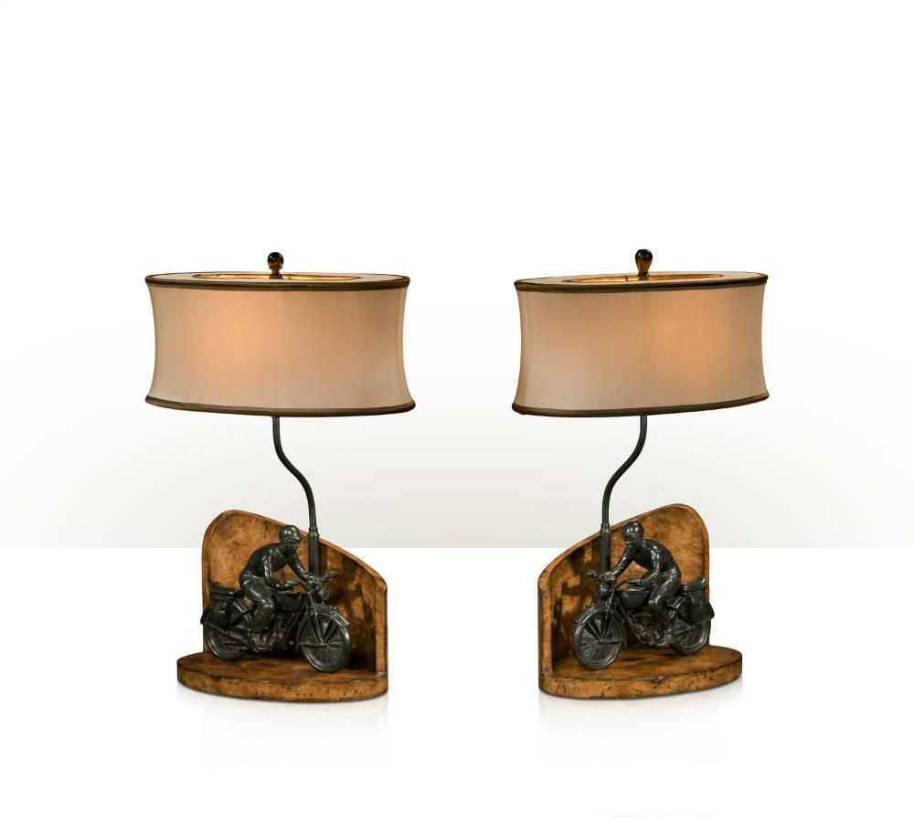 Pair, Table Lamps From Brights