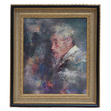 Chinese gentleman, framed original oil painting
