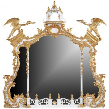 Chippendale 18th century style overmantel mirror