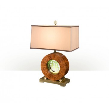 Circular Chinese character table lamp