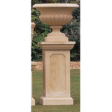 Clarence cast stone planter on pedestal