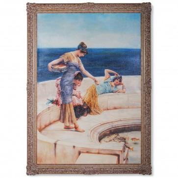 Classical oil painting of Silver Favourites after Alma-Tadema