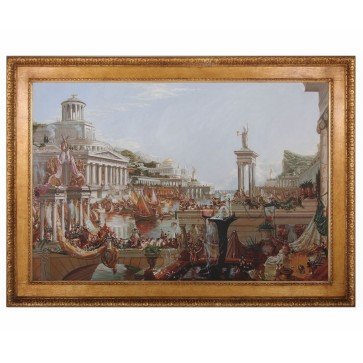 Classical oil painting of The Course Of Empire after Thomas Cole