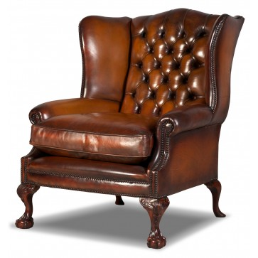 Coleridge Grande hide wing chair