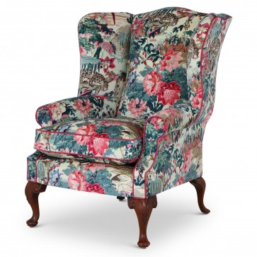 Coleridge wing chair In Jungle Rumble Leopard