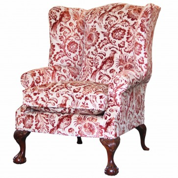 Coleridge wing chair in Linwood Dutch Pheasant velvet