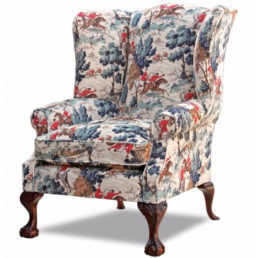Coleridge wing chair In Tally Ho velvet