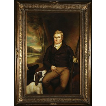 Country Gentleman, framed oil painting