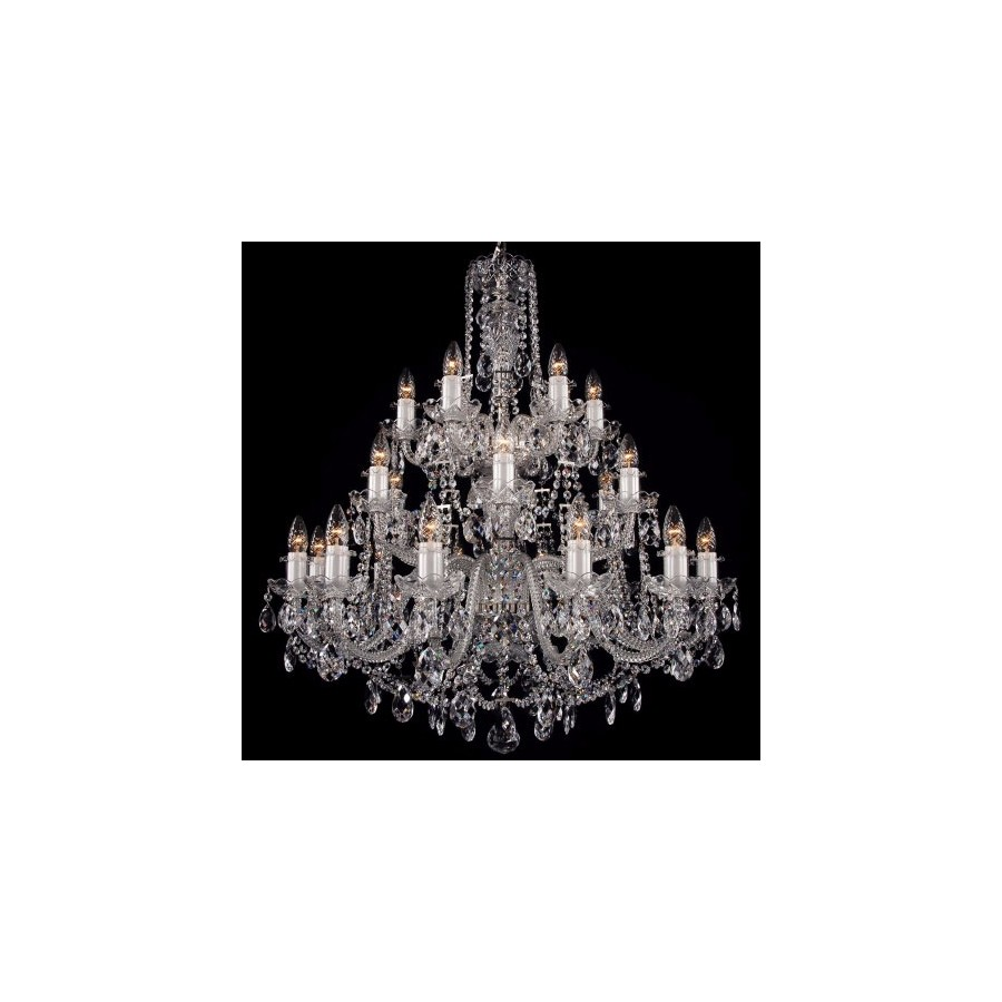 Crystal chandelier - 3 tier 24 lights