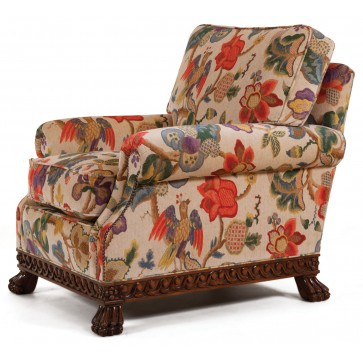 Dartington chair in a floral print velvet