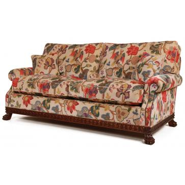 Dartington sofa in a floral print velvet
