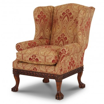 Dartington wing chair in Jim Dickens Persia Spice