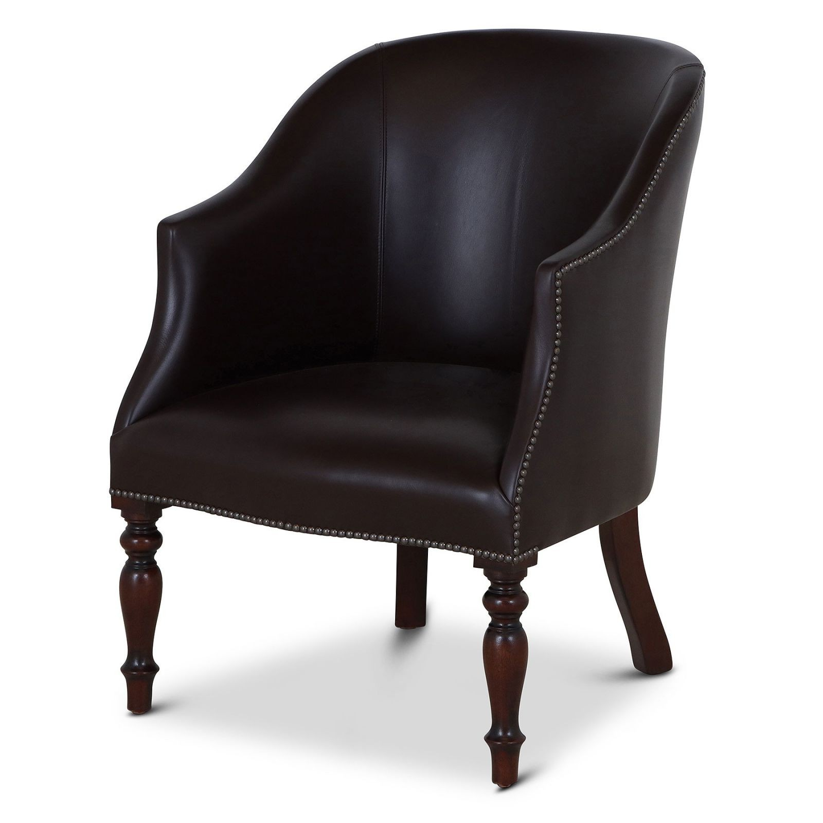Dickensian leather tub chair
