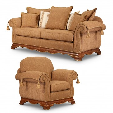 Dorchester sofa and chair in quality fabric