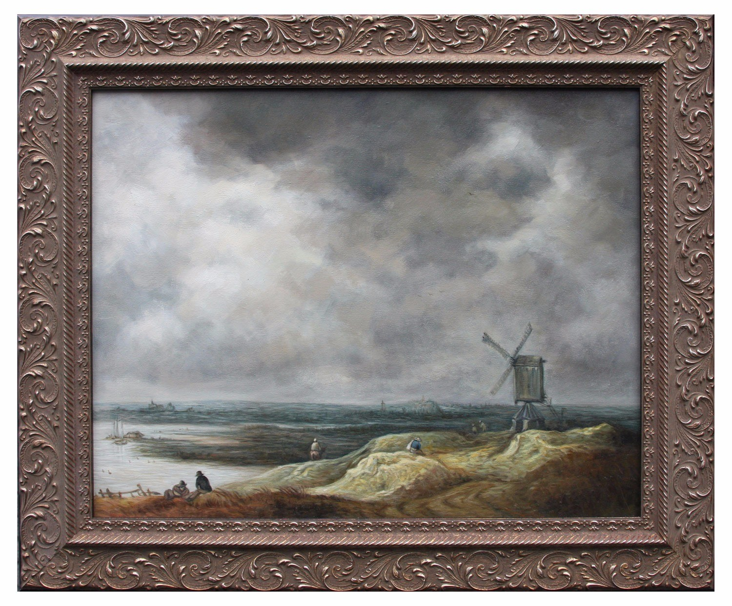 Dutch coast oil painting