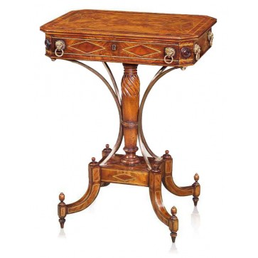 Early 19th-century style mahogany side table
