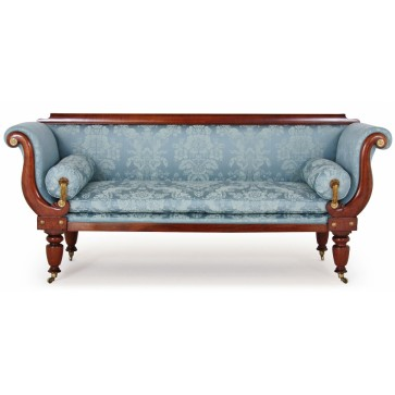 Early Victorian sofa in Gainsborough fabric