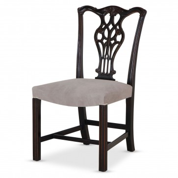 Ebonised Chippendale style dining chair