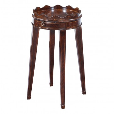 Ebonised mahogany wine table - 14in top