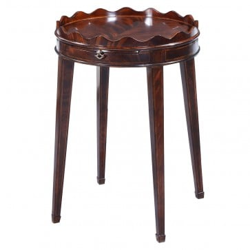 Ebonised mahogany wine table - 20in top