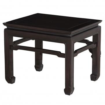 Ebonised solid rosewood side table