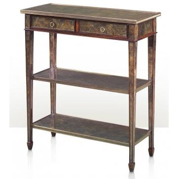 Eglomise panel two tier console table