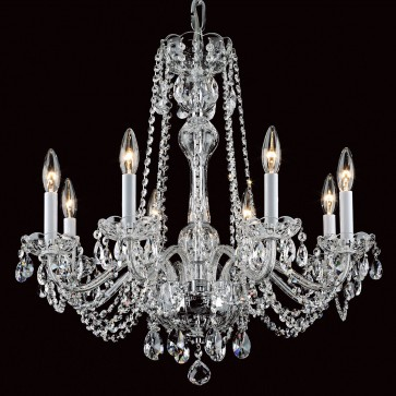 Eight light crystal chandelier