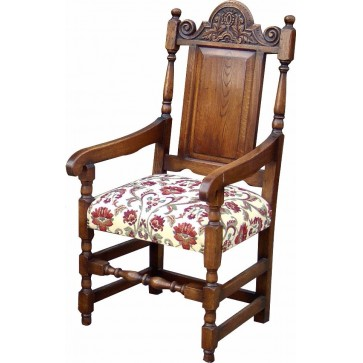 Elizabethan style dining arm chair