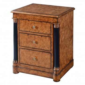 Empire bedside chest of drawers