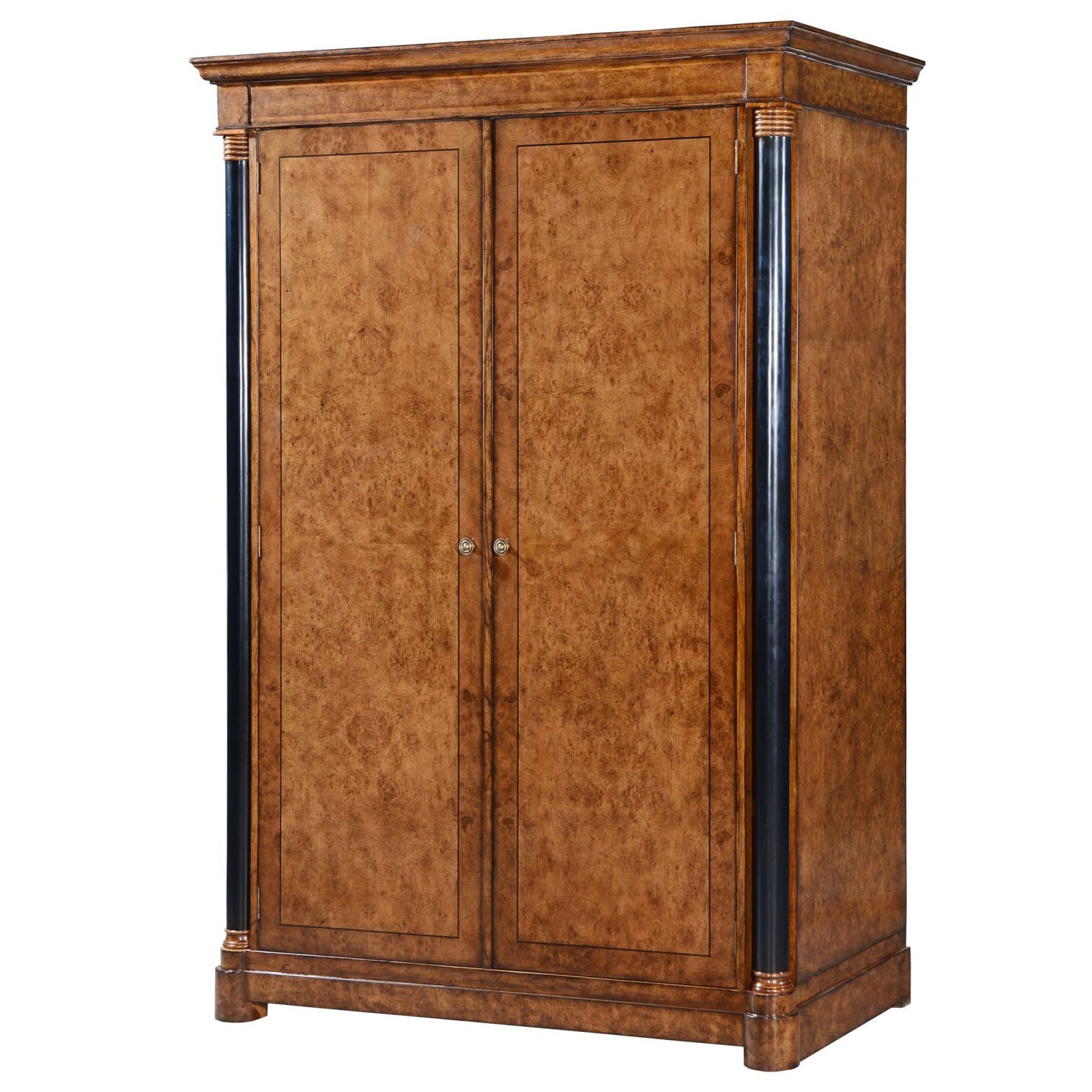 Empire style burr oak wardrobe