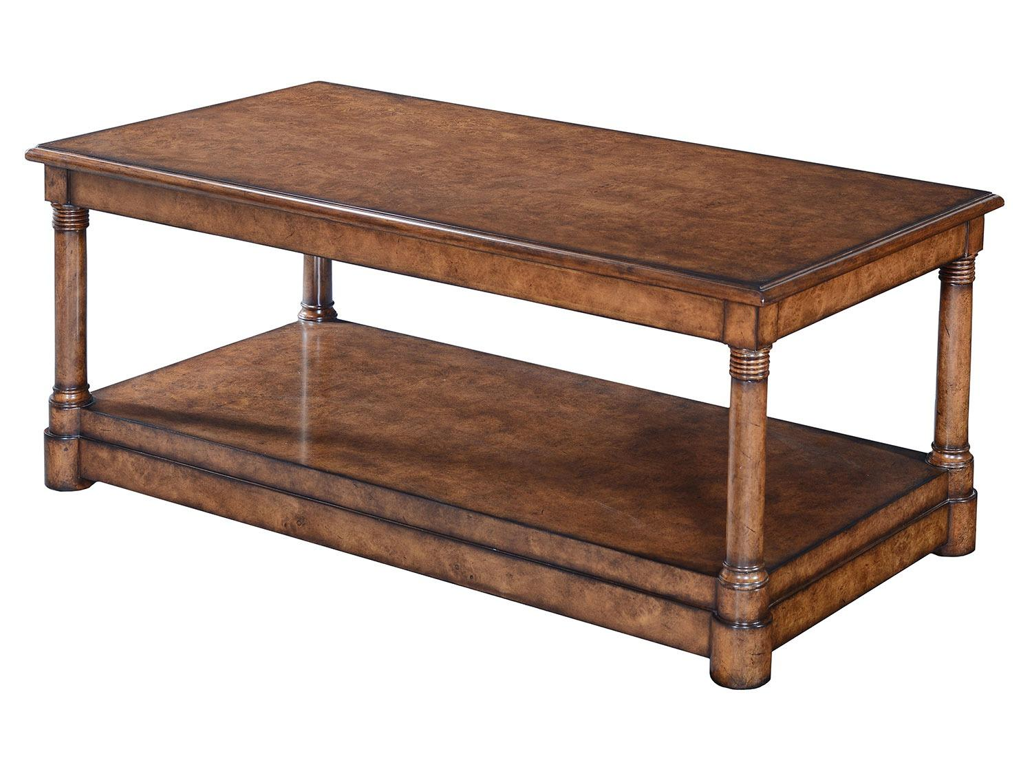 Empire style coffee table - Burr oak