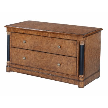 Empire television stand - burr oak