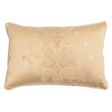 Envelope scatter cushion in embroidered damask