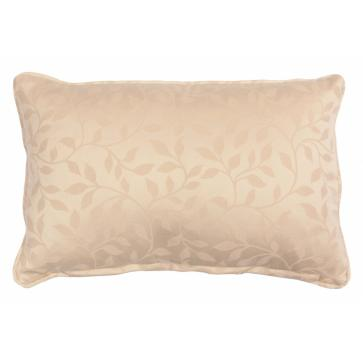 Envelope scatter cushion in natural floral weave