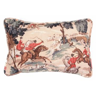Envelope scatter cushion in Tally Ho velvet print